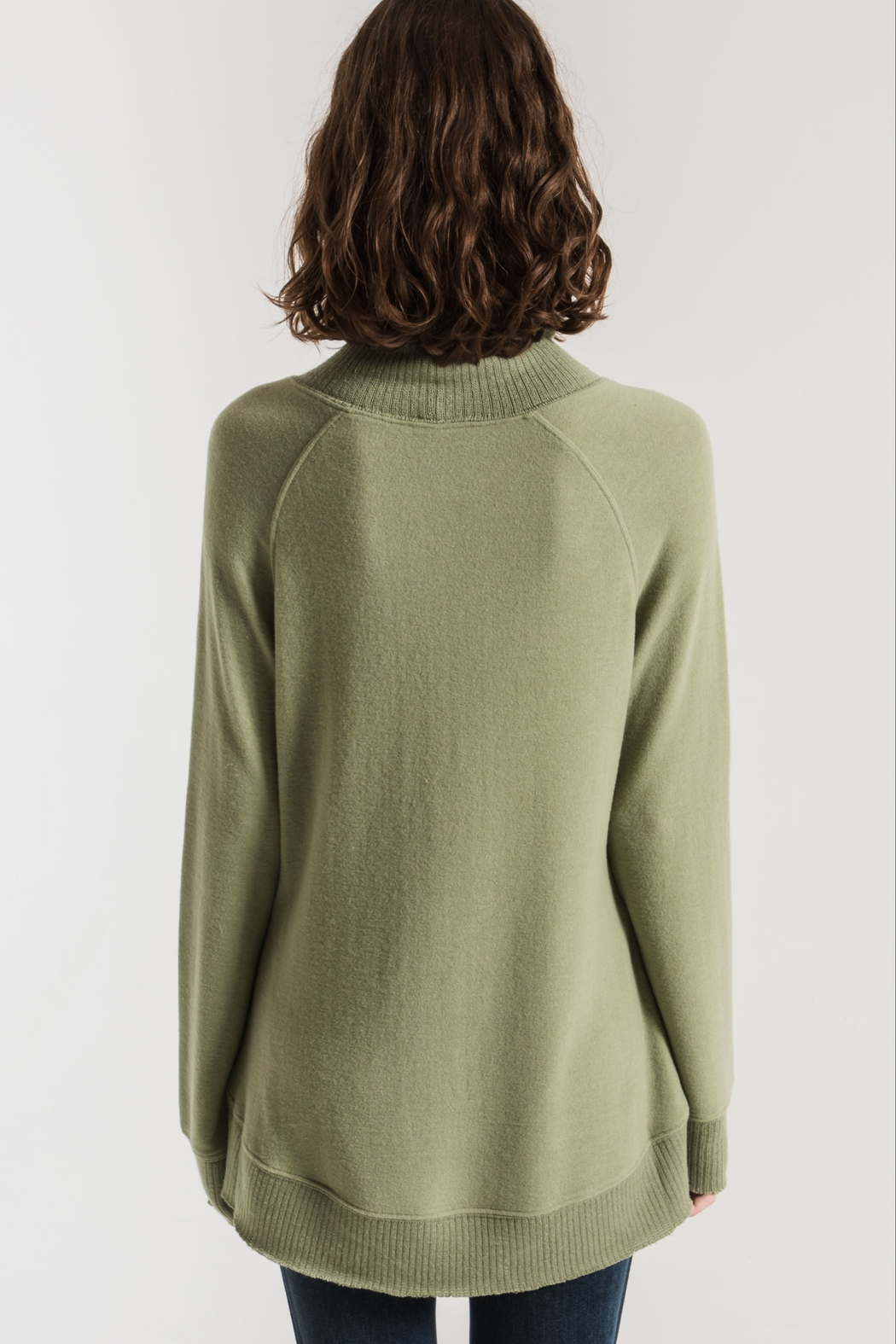 Zsupply The Soft-Spun Mock Neck Top - Front Full Image