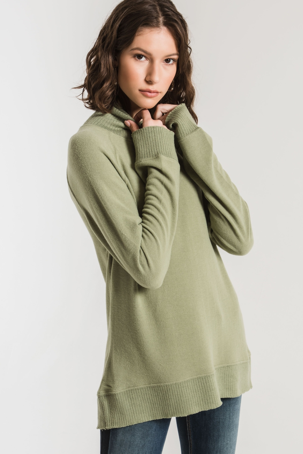 Zsupply The Soft-Spun Mock Neck Top - Main Image