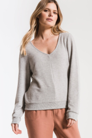 z supply The Soft Spun Strap Back Pullover In Grey - Product Mini Image