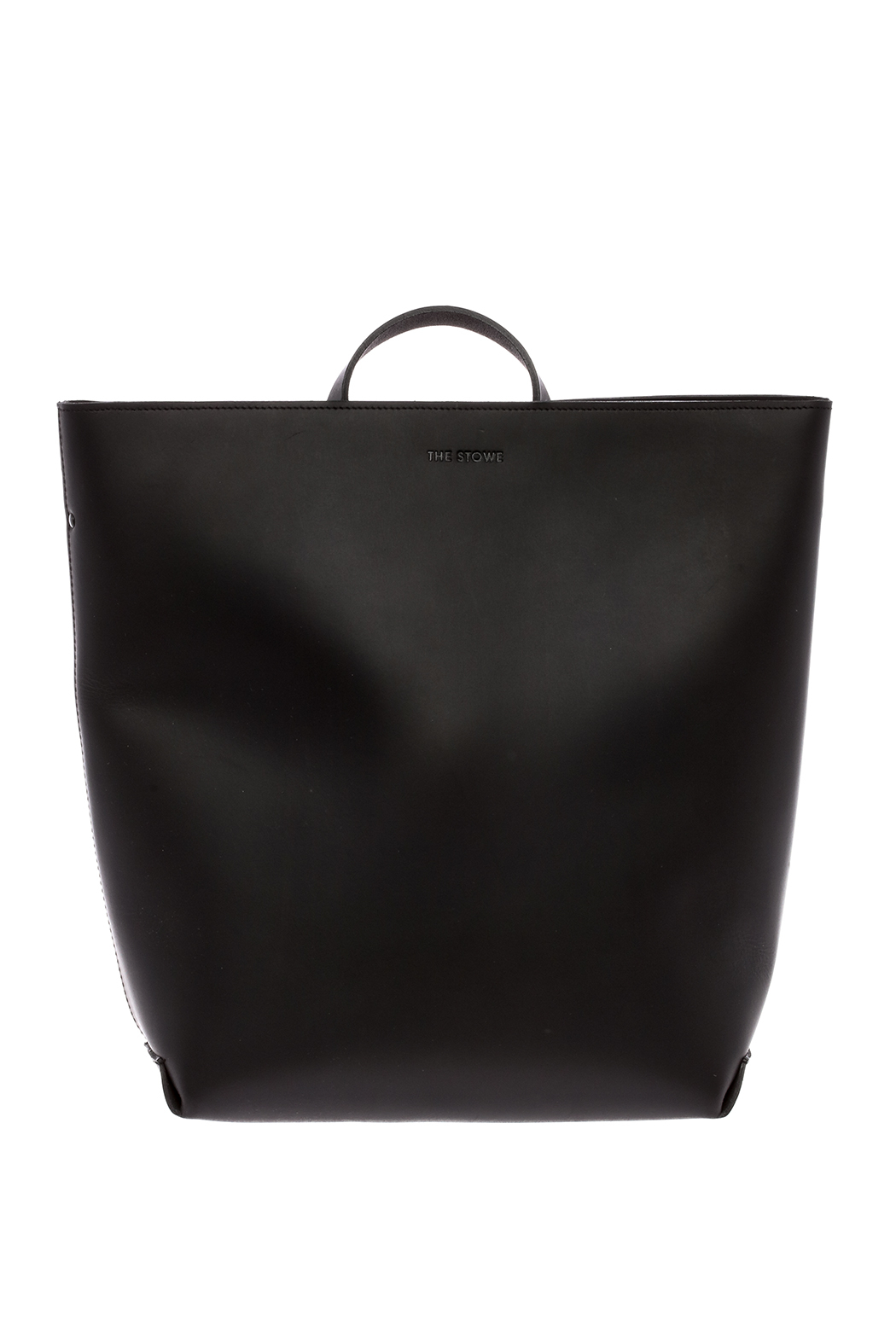 The Stowe Black Leather Backpack - Front Cropped Image