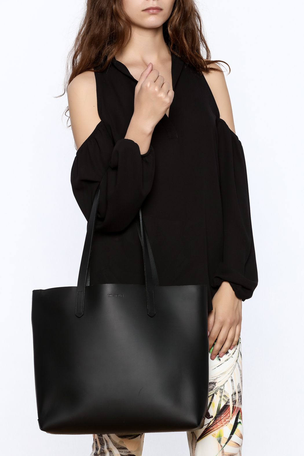 The Stowe Black Mini Tote - Back Cropped Image