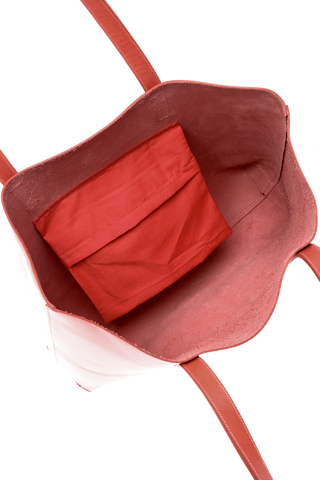 The Stowe Rose Red Tote - Front Full Image