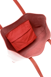 The Stowe Rose Red Tote - Front full body