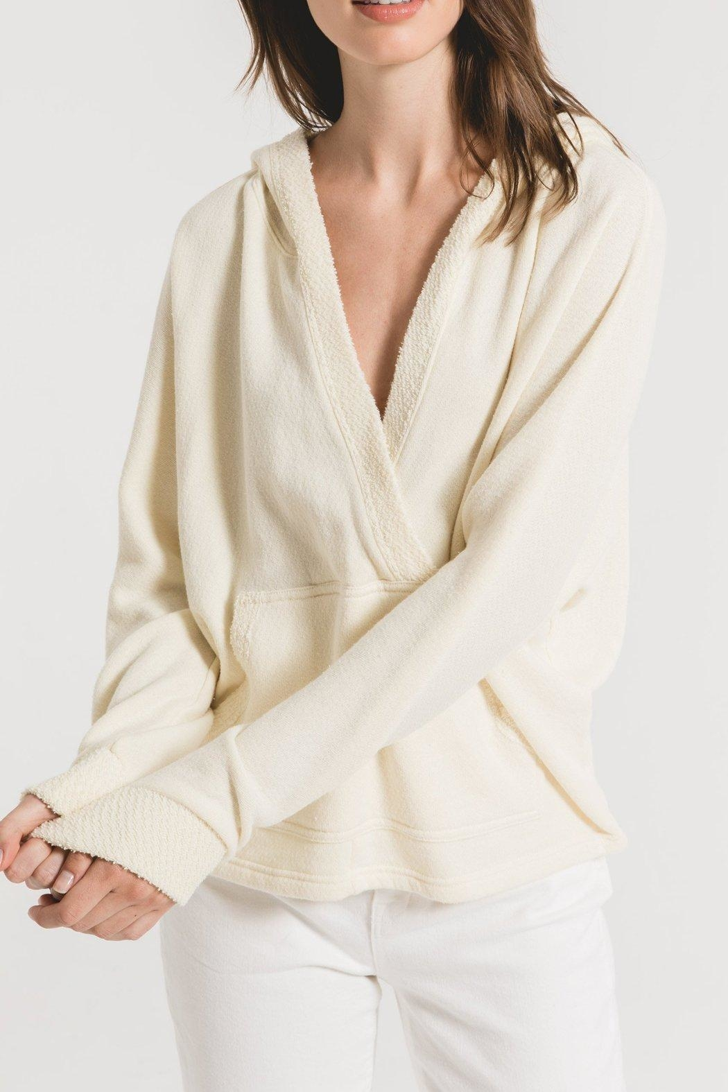 z supply The Surplice Hoodie - Front Cropped Image