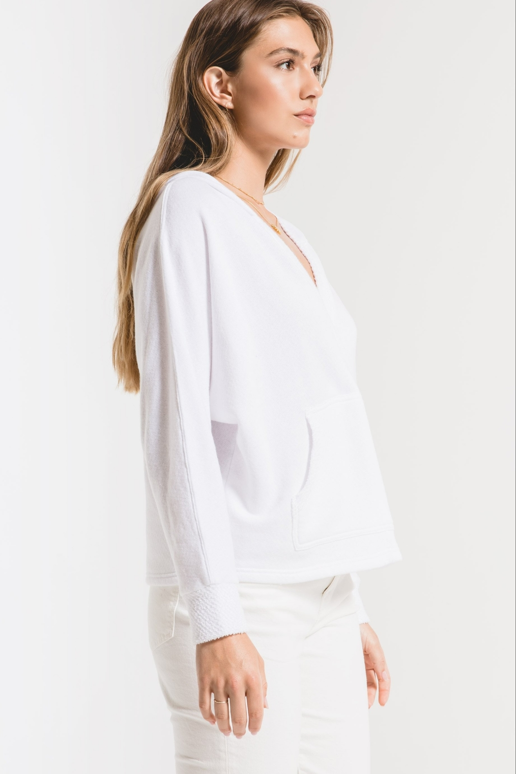z supply The Surplice Hoodie - Back Cropped Image