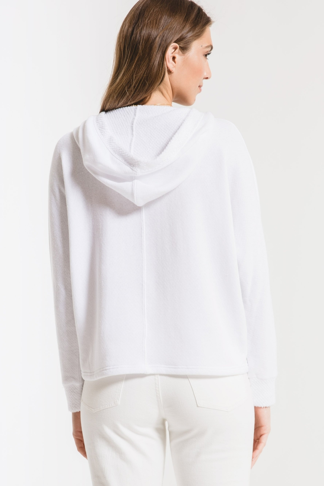 z supply The Surplice Hoodie - Side Cropped Image