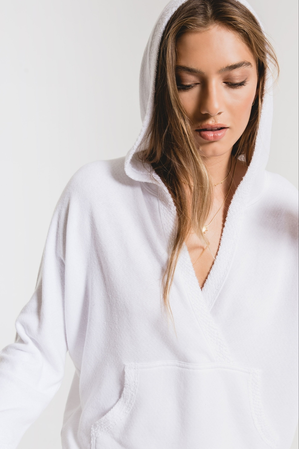 z supply The Surplice Hoodie - Front Full Image