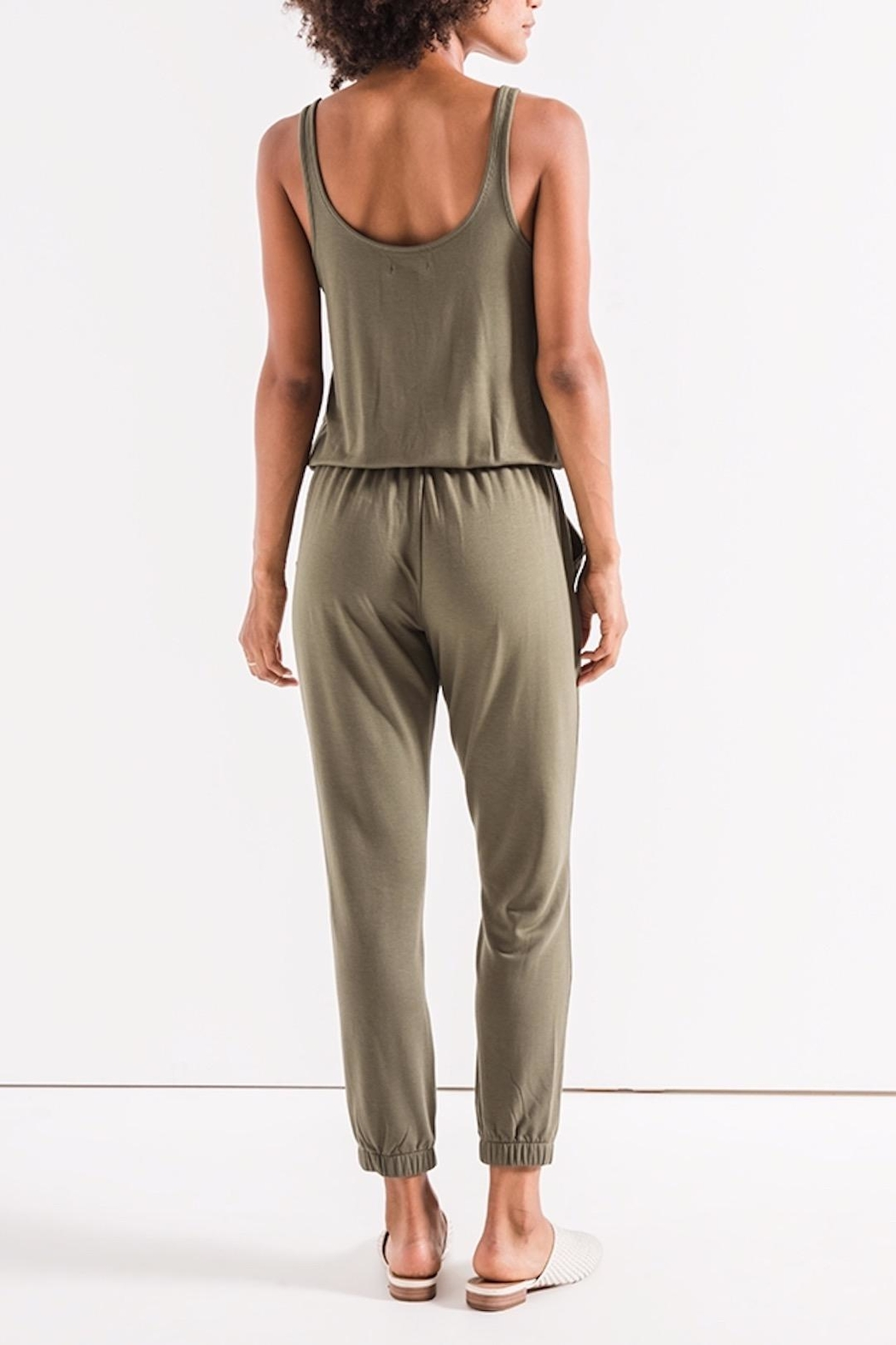 z supply The Tank Jumpsuit - Front Full Image