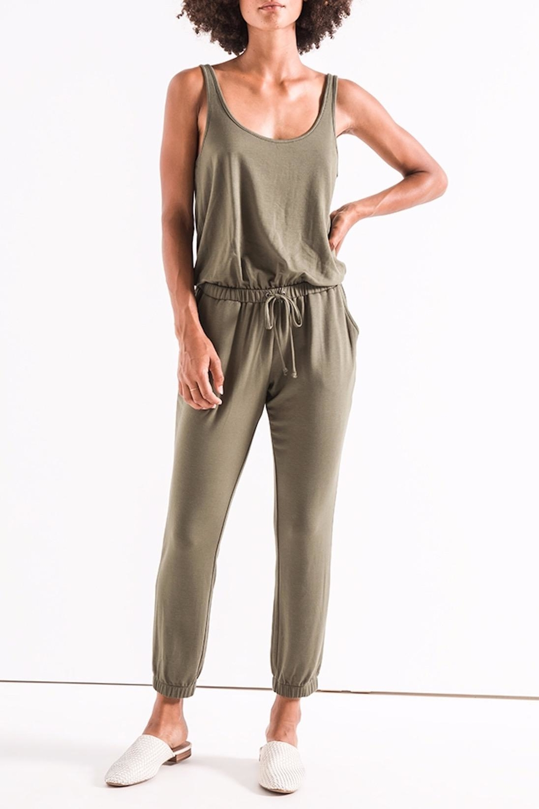 z supply The Tank Jumpsuit - Back Cropped Image