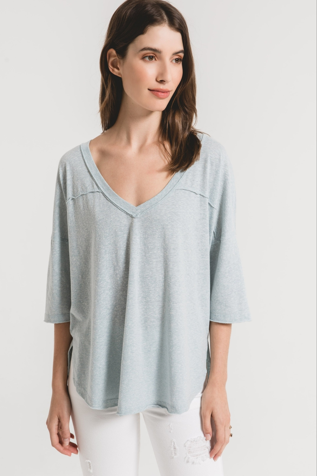z supply The Triblend Sporty Tee - Front Cropped Image