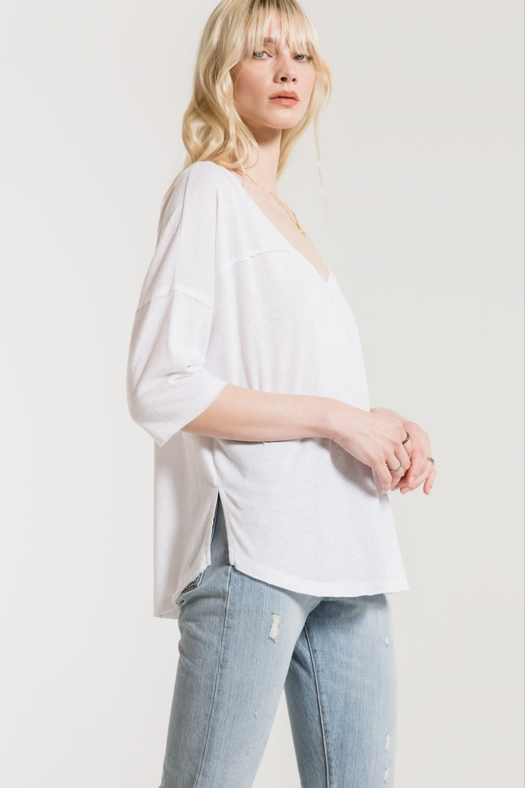 z supply The Triblend Sporty Tee - Front Full Image
