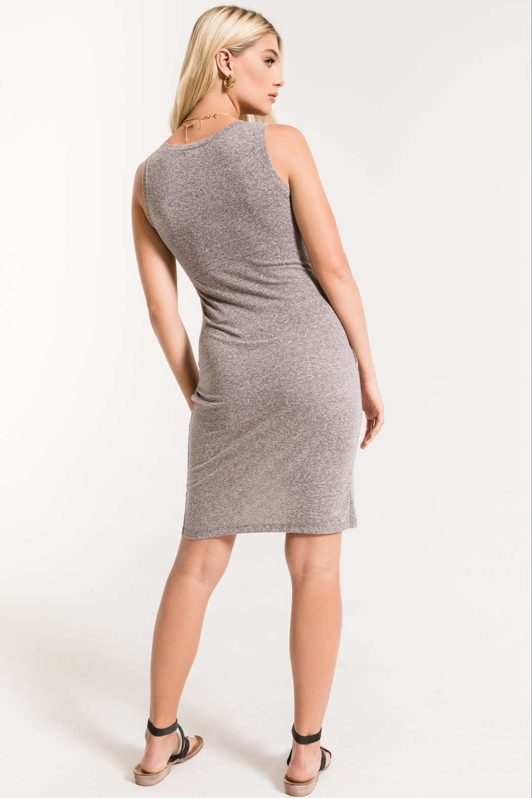 z supply The Triblend Tulip Midi Dress - Side Cropped Image