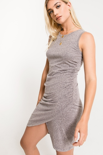 z supply The Triblend Tulip Midi Dress from Massachusetts by Homegrown Boutique — Shoptiques