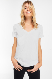 z supply The V-Neck Pocket Tee - Front cropped
