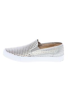 Shoptiques Product: Metallic Silver Slip On Sneakers