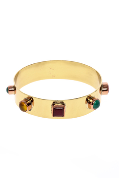 The Velvet Maple Multi Stone Thick Bangle - Product List Image