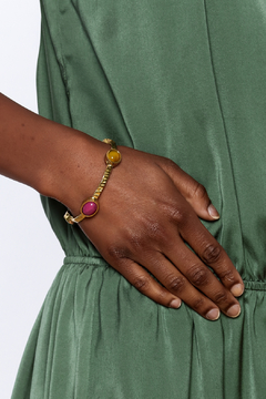 The Velvet Maple Multi Stone Skinny Bracelet - Alternate List Image
