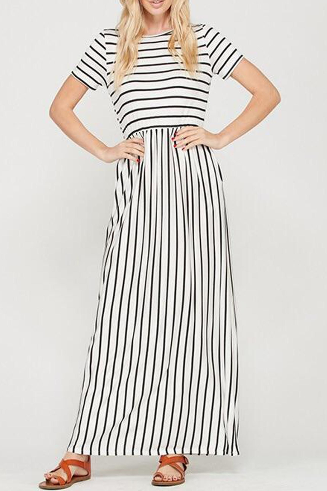 Style Trolley The Victoria Striped-Maxi - Side Cropped Image