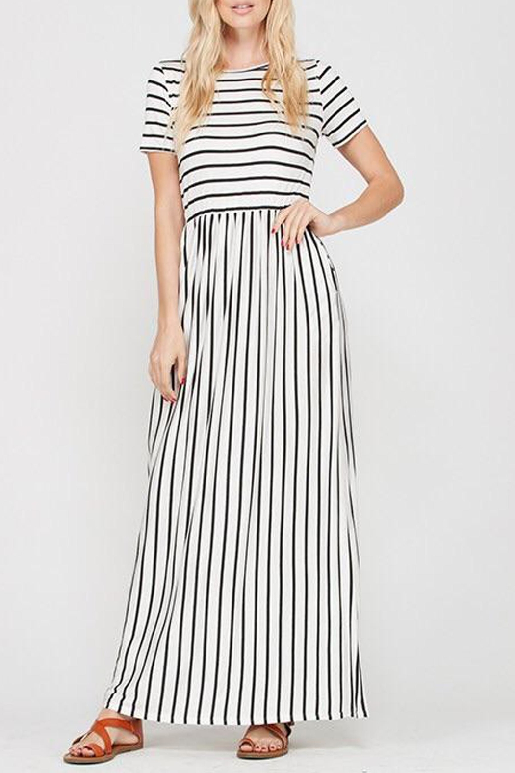 Style Trolley The Victoria Striped-Maxi - Front Full Image