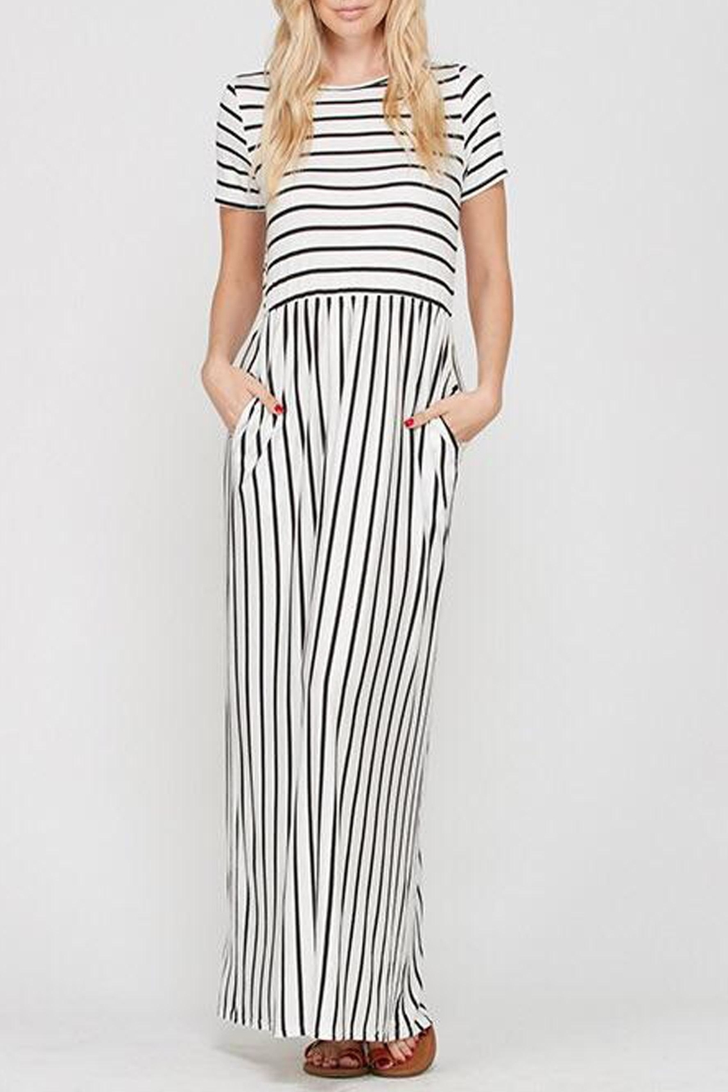 Style Trolley The Victoria Striped-Maxi - Main Image