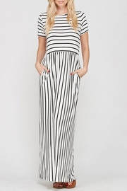 Style Trolley The Victoria Striped-Maxi - Front cropped
