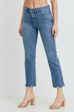 Just Black Denim The Vintage High Rise Straight Jeans - Product List Image