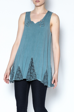 Shoptiques Product: Blue Laceup Tank