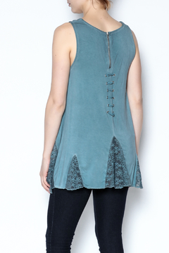 The Vintage Valet Blue Laceup Tank - Alternate List Image