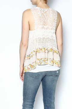 The Vintage Valet Floral Crochet Vest - Alternate List Image