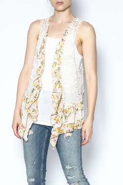 The Vintage Valet Floral Crochet Vest - Product List Image