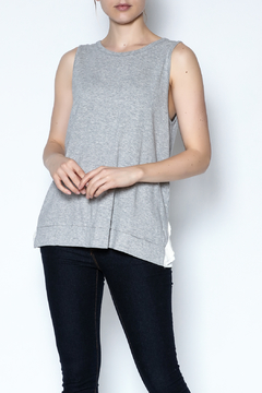 Shoptiques Product: Gray Pleated Tank