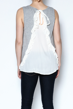 The Vintage Valet Gray Pleated Tank - Alternate List Image