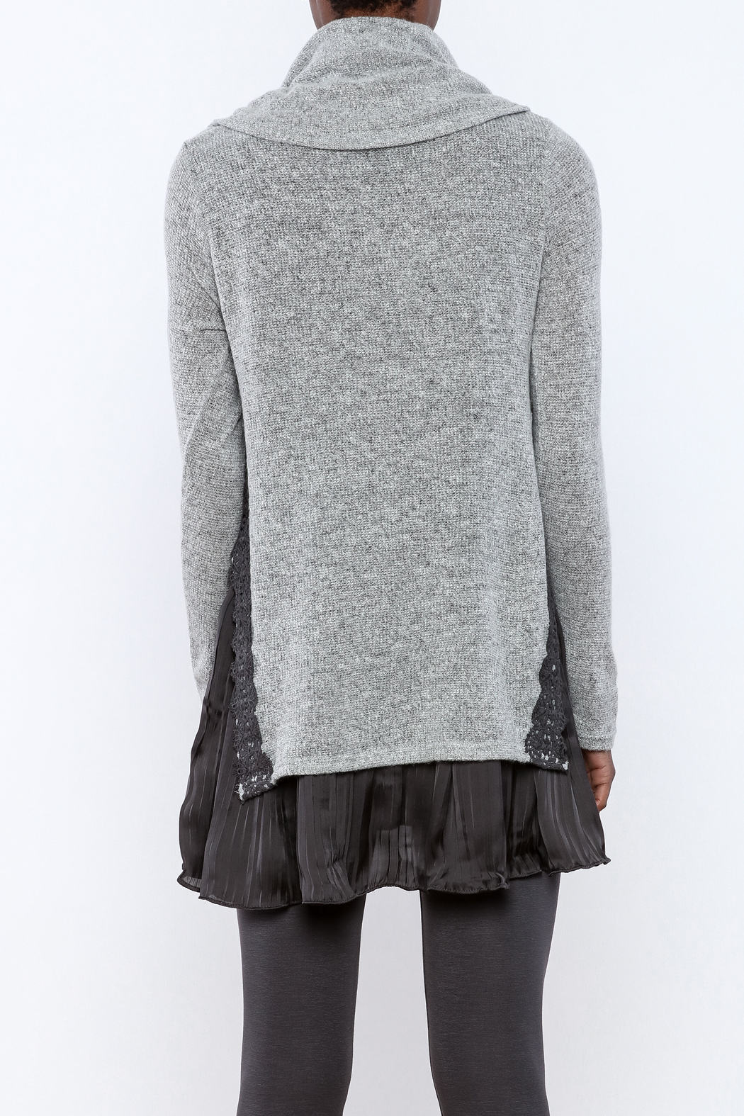 The Vintage Valet Grey Cowl Neck Sweater from Pittsburgh — Shoptiques