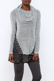 The Vintage Valet Grey Cowl Neck Sweater - Product Mini Image