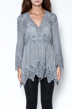 Shoptiques Product: Grey Lace Top
