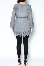 The Vintage Valet Grey Lace Top - Other