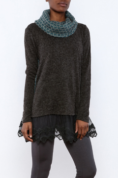 The Vintage Valet Grey Pleat Sweater - Product List Image