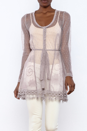 The Vintage Valet Mauve Lace Top - Product Mini Image