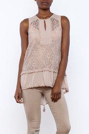 The Vintage Valet Mauve Lace Up Tank - Product Mini Image