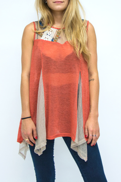 Shoptiques Product: Orange Tribal Tank