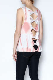 The Vintage Valet Peach Bowback Tank - Back cropped