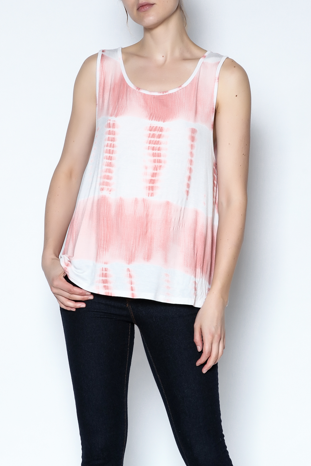 The Vintage Valet Peach Bowback Tank - Front Cropped Image