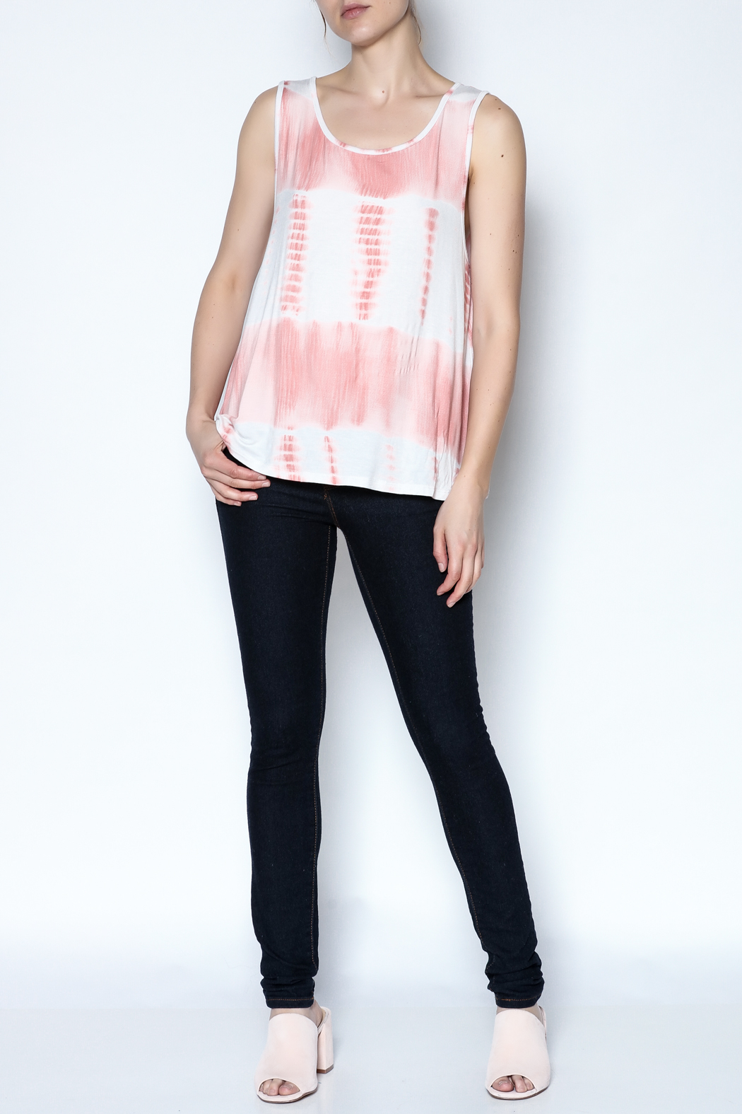 The Vintage Valet Peach Bowback Tank - Front Full Image