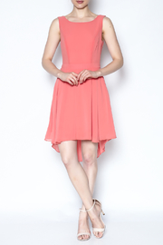 The Vintage Valet Peach Pleated Dress - Product Mini Image