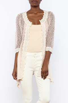 The Vintage Valet Pink Crochet Top - Product List Image