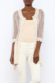 The Vintage Valet Pink Crochet Top - Product Mini Image
