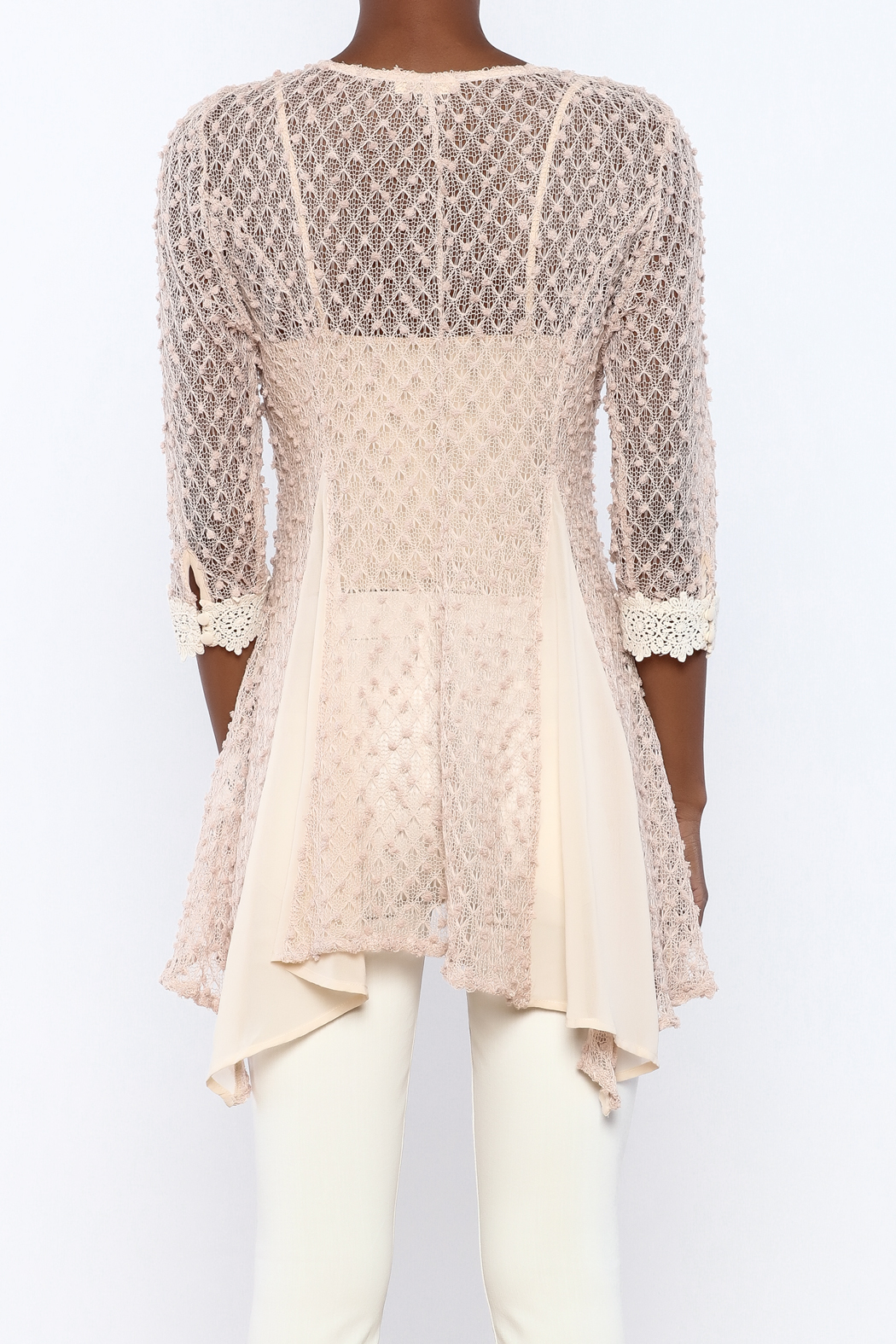 fefc6e168cdca8 The Vintage Valet Pink Crochet Top from Pittsburgh — Shoptiques