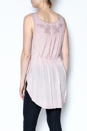 The Vintage Valet Pink Embroidered Tank - Back cropped
