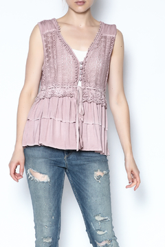The Vintage Valet Pink Ruffle Tank - Product List Image