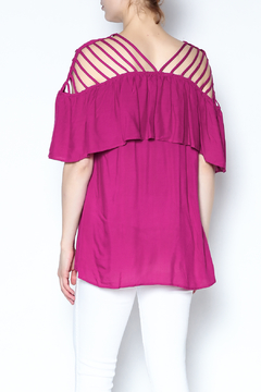 The Vintage Valet Pink Ruffle Top - Alternate List Image